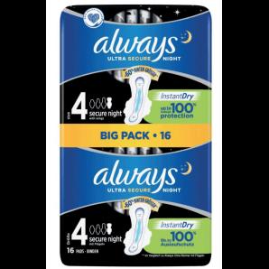 Always Ultra Binde Secure Night Gr 4 Big Pack (16 Stk)