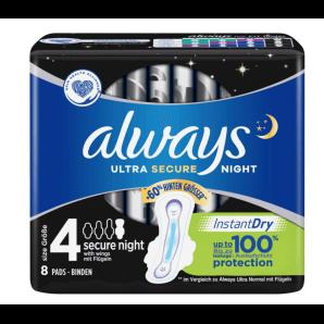 Always Ultra Bandage Secure Night Size 4 (8 pieces)