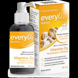 EveryD3 - Aurora 200 I.E. Vitamin D3 Säuglinge/Kinder (40ml)