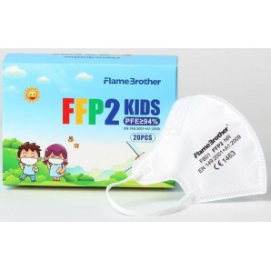 FlameBrother FFP2 respirator mask white for children (20 pieces)