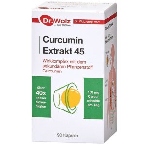 Dr. Wolz Curcumin Extract 45 capsules (90 pièces)