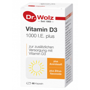 Dr. Wolz Vitamin D3 1000 I.U. plus Kapsules (60 pieces)