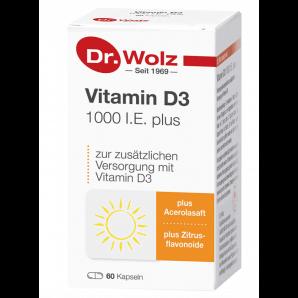 Dr. Wolz Vitamin D3 1000 UI plus Capsules (60 pièces)