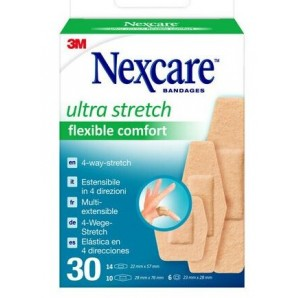 3M Nexcare plasters ultra stretch flexible comfort (30 pieces)
