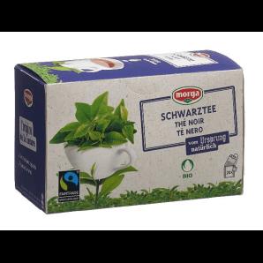 Morga Des Sachets De Thé Noir Bio Fairtrade (20 pièces)