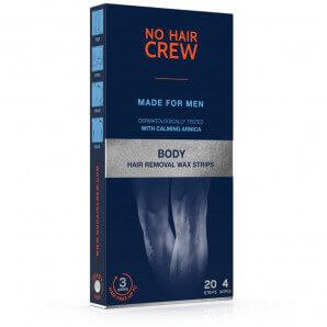 No Hair Crew bandes de cire froide pour hommes (20 pièces)