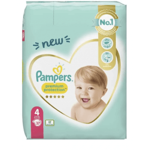 Pampers Premium Protection Size 4 9-14kg Economy Pack (37 pieces)