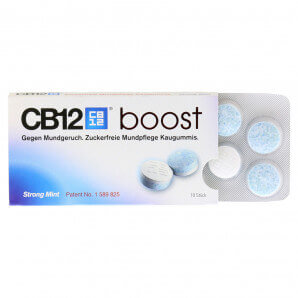CB12 - Boost Mundpflege Kaugummi Strong Mint (10 Stk)