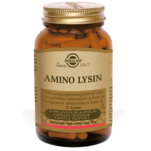 Solgar Amino Lysine Capsules Végétales (50 pcs)