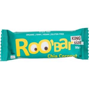 RooBar La Barre D'Aliments Crus Chia Noix De Coco (50g)
