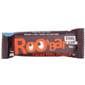RooBar Raw Food Bar Cacao Nibs Almond (50g)