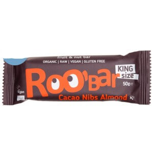 RooBar Raw Food Bar Cacao Nibs Amande (50g)