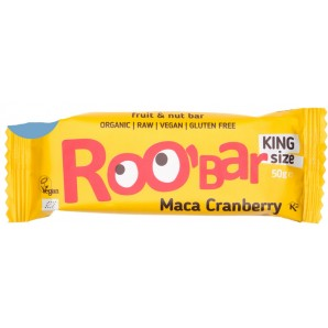 RooBar Barre De Nourriture Crue Maca Et Canneberge (50g)