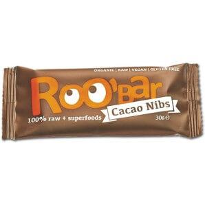 RooBar Nibs De Cacao De Barre De Nourriture Crue (30g)