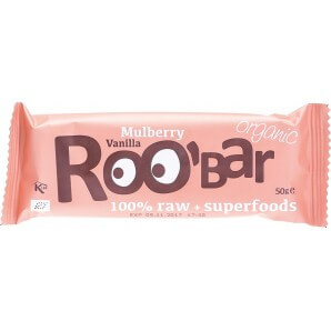 RooBar Rohkostriegel Maulbeere Vanille (50g)