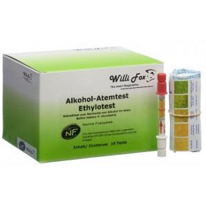 Willi Fox Alkohol-Atemtest Ethylotest (10 Stk)