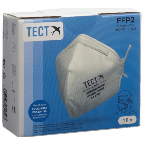 TECT FFP2 Breathing Mask Foldable without Valve (10 pieces)