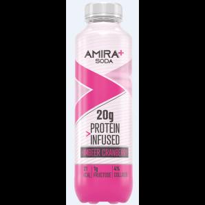 Amira+ Soda Protein Infusé Framboise & Canneberge (500ml)