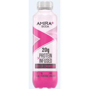 Amira+ Soda Protein Infused Raspberry & Cranberry (500ml)