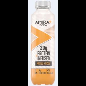Amira+ Soda Protein Infused Mango & Coconut (500ml)