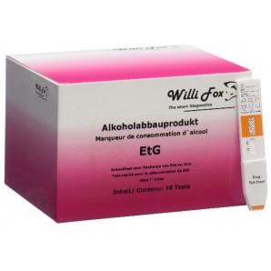 Willi Fox Alkoholabbauprodukt EtG Test (10 Stk)