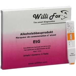 Willi Fox Alkoholabbauprodukt EtG Test (3 Stk)