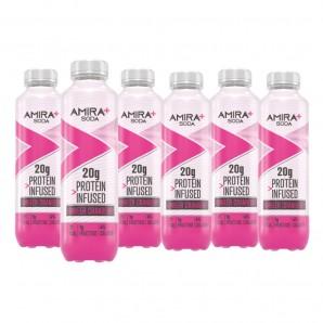 Amira + Soda Protein Infusé Framboise & Canneberge (6 x 500ml)