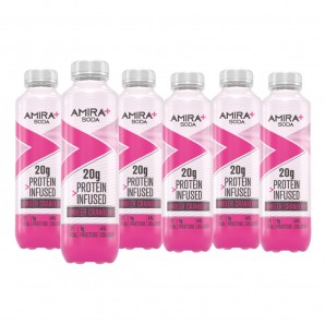 Amira+ Soda Protein Infused Raspberry & Cranberry (6 x 500ml)