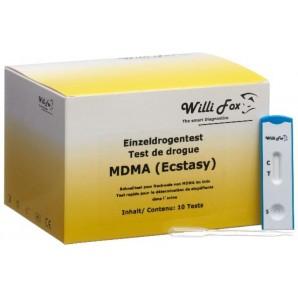 Willi Fox Drogentest MDMA-Ecstasy Urin (10 Stk)