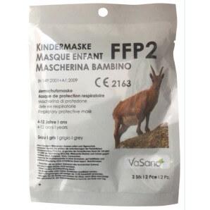 Vasano FFP2 Atemschutzmaske grau für Kinder (2 Stk)