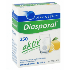 Diasporal Magnesium Aktiv Brausetabletten Zitrone (20 Stk)