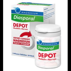 Diasporal DEPOT Magnesium + Vitamin B Des Comprimés (30 pièces)