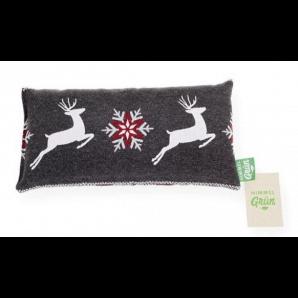 Himmelgrün Cherry Stone Pillow Deer Dark Gray 32x17cm (1 Stk)