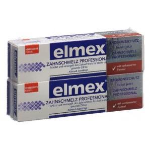 Elmex professionnel émail dentaire dentifrice duo (2x75ml)