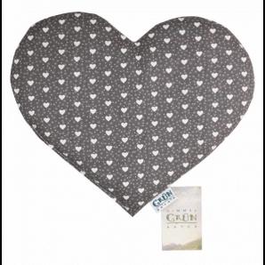 Himmelgrün Pillow Grape Seeds Heart 30x26cm (1 piece)