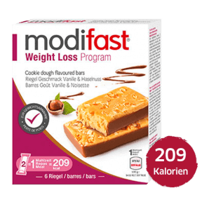 Modifast Weight Loss Program Bar with hazelnuts and vanilla flavor
