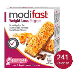 Modifast Weight Loss Program Bar Muesli Apricot (6x31g)