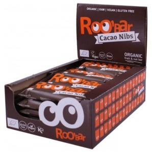 RooBar Nibs De Cacao De Barre De Nourriture Crue (20x30g)