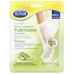 SCHOLL EXPERTCARE Intensely Nourishing Foot Mask With Aloe Vera (1 pair)
