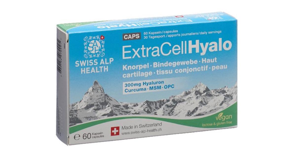 Swiss Alp Health Extra Cell Hyalo Kapseln (60 Stk)