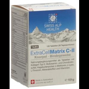 Swiss Alp Health Extra Cell Matrix C-II Tabs für Gelenke (120 Stk)