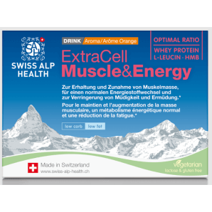 Swiss Alp Health Extra Cell Muscle & Energy Drink Orange (10 Beutel)