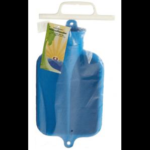 Sänger rubber hot water bottle half lamella blue (2 liters)