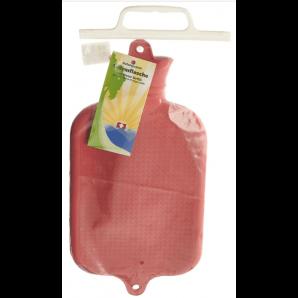 Sänger Gummi-Wärmeflasche Halblamelle rot (2 Liter)