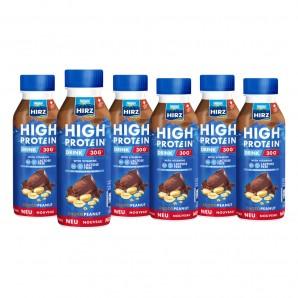 HIRZ boisson riche en protéines Choco & Peanut (6x330ml)