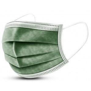 Disposable face mask dark green type IIR (50 pcs)