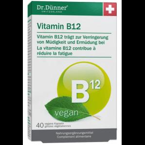 Dr. Dünner capsules végétaliennes de vitamine B12 (40 pièces)