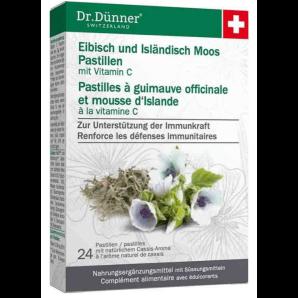 Dr. Dünner eibisch und isländisch Moos Pastillen (24 Stk)