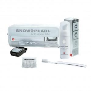 Snow Pearl Blanc brillant le kit de voyage
