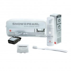 Snow Pearl Travel Kit Shine weiss